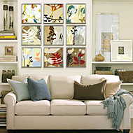 baratos -Floral/Botânico Quadros Emoldurados / Conjunto Emoldurado Wall Art,PVC Champanhe Sem Cartolina de Passepartout com frame Wall Art