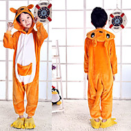 Kigurumi Pajamas Kid's Boys and Girls Fashion Festival / Holiday Flannel Toison Carnival Costumes Lovely
