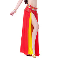 cheap Sale-Belly Dance Skirt Women's Training Performance Chiffon Tier Split Front Skirt