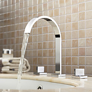 cheap Sprinkle® Faucets-Contemporary  with  Chrome Two Handles Three Holes  for Widespread
