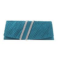 baratos Clutches & Bolsas de Noite-Mulheres Bolsas Seda Bolsa de Festa Cristal / Strass Verde / Champanhe / Ivory