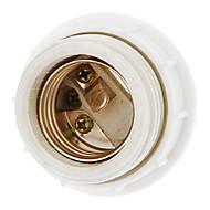 baratos -Suporte de lâmpada de cerâmica e27 de luz livre (branco) acessório de iluminação de alta qualidade