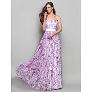 Uma linha de princesa strapless sweetheart piso comprimento chiffon vestido de formatura com beading by ts couture®