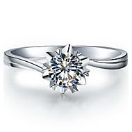 billige Tilbehør! Supersalg-Ringer Dame Diamant Sølv / Sterling Sølv / Platin Belagt Sølv / Sterling Sølv / Platin Belagt Kjærlighed 5 / 6 / 7 / 8 / 8½ / 9 / 9½ Klar