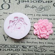 DIY egy Hole Virág Szilikon Mold Fondant penészgomba Sugar Kézműves szerszámok gyanta virágok Penész öntőforma sütemények