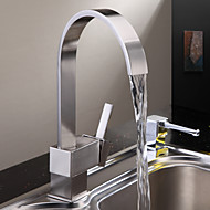 Hedendaagse Tall / High Arc Inbouw Waterherfst with  Keramische ventiel Een Hole Single Handle Een Hole for  Nikkel Geborsteld , Keuken