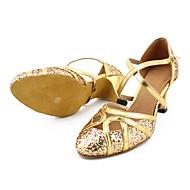 billige Kustomiserte dansesko-Dame Moderne sko / Ballett Glimtende Glitter / Kunstlær Høye hæler Kustomisert hæl Kan spesialtilpasses Dansesko Bronse / Gull