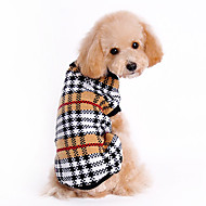 cheap -Cat Dog Sweater Dog Clothes Classic Keep Warm Plaid/Check Brown Costume For Pets