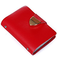 Women Bags All Seasons Cowhide Card & ID Holder for Casual Red Green Blue Pink Watermelon