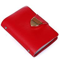 お買い得  Card & ID Holder-女性用 バッグ レザー カード&IDホルダー / 二つ折り のために カジュアル イエロー / レッド / ブルー