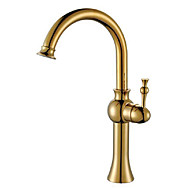 cheap Bathroom Sink Faucets-Country Vessel Rotatable Ceramic Valve One Hole Single Handle One Hole Antique Brass, Bathroom Sink Faucet