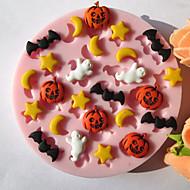 billige Kjeksverktøy-Bakeware verktøy Silikon Økovennlig Halloween Kake Til Småkake Pai Bakeform 1pc