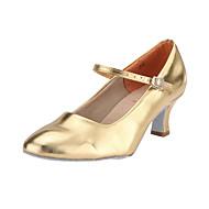 baratos Sapatilhas de Dança-Mulheres Sapatos de Dança Moderna / Dança de Salão Courino Salto Presilha Salto Carretel Não Personalizável Sapatos de Dança Vermelho /