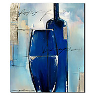 Hand Painted Oil Painting Still Life Blue Vessels with Stretched Frame