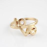 Ouro New Arrival Amor Padrão Casal Anel de Kayshine Mulheres