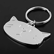 preiswerte -Individuelle Gravur Geschenk-Katze-Kopf geformt Schlüsselbund