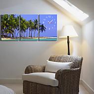 billige Veggklokker-Country Style Coconut Tree Clock i Canvas 3pcs
