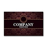 Χαμηλού Κόστους Προσαρμοσμένη Κάρτες-200pcs Εξατομικευμένη 2 Πλευρές Έντυπα Matte Film Δικαστήριο Style Flower Pattern Business Card