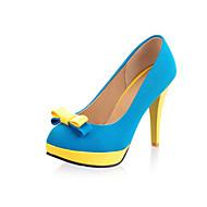 abordables Talons pour Femme-Homme-Mariage / Extérieure / Habillé-Bleu / Jaune / Rouge / Orange-Talon Cône-Confort-Chaussures à Talons-Similicuir