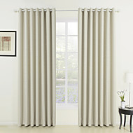 To paneler Window Treatment Neoklassisk , Solid Stue Polyester Materiale gardiner gardiner Hjem Dekor For Vindu