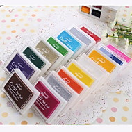 Cartoon Colorful Plastic Ink Pad(4 Package)