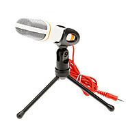 666 3,5 mm stereo stikbeslag af høj kvalitet ktv mikrofon (hvid) kablet karaoke mikrofon