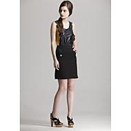 Zoely Dámské sexy řemínek Kouzlo kůže vzor bez rukávů Vest 101123M015