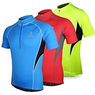 voordelige Sport Buitenshuis Opruiming-Arsuxeo Heren Korte mouw Wielrenshirt - Rood Blauw Licht Groen Fietsen Shirt, Sneldrogend, Anatomisch ontwerp, Ademend