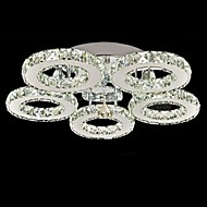 Flush Mount ,  Modern/Contemporary Electroplated Feature for Crystal Metal Living Room Bedroom Dining Room 1 Bulb