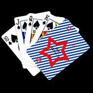 Χαμηλού Κόστους Προσαρμοσμένη Κάρτες-Εξατομικευμένη δώρων Αστέρι Pattern Τραπουλόχαρτο Πόκερ