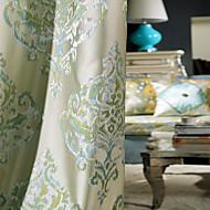 billige Gardiner ogdraperinger-To paneler Window Treatment Europeisk Soverom Polyester Materiale gardiner gardiner Hjem Dekor For Vindu