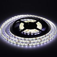 vandtæt 5m 300 * 53.528 SMD hvid / varm hvid lys førte stribe lampe (DC12V)