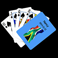 cheap Customized Novelties-Personalized Gift Blue South Africa Flag Pattern Playing Card