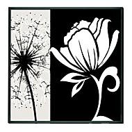 花白い花アート額油絵