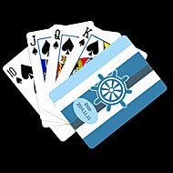 Presente personalizado Padrão Blue Anchor Listrado Playing Card para Poker