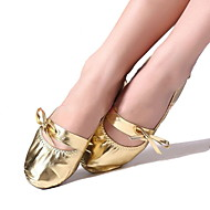 Women's Belly Leatherette Flat Bowknot Flat Heel Gold Non Customizable