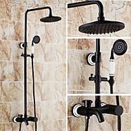 シャワー水栓 - アンティーク オイルブロンズ シャワーシステム セラミックバルブ