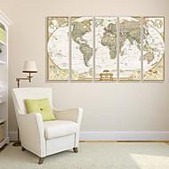 baratos Quadros com Moldura-Abstrato Quadros Emoldurados / Conjunto Emoldurado Wall Art,PVC Branco Sem Cartolina de Passepartout com frame Wall Art