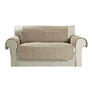 microsuede impermeável sólida mini-cubo tampa quilting loveseat