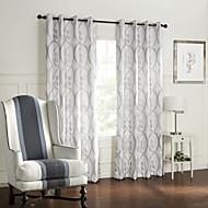 billige Gardiner ogdraperinger-To paneler Window Treatment Barokk Soverom Polyester Materiale gardiner gardiner Hjem Dekor For Vindu