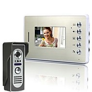 billige Dørtelefonssystem med video-4,3 tommers Video Dør Telefon Dørklokke Intercom Kit 1-kamera 1-monitor Night Vision