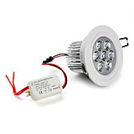 billige Innfelte LED-lys-5500 lm Innfelt lampe Taklys Innfelt retropassform 7 leds Høyeffekts-LED Naturlig hvit AC 85-265V