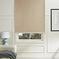 cheap Blinds & Shades-Modern Latte Solid Minimalist Roller Shade