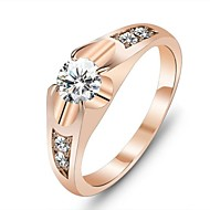 povoljno Modno prstenje-Žene Prsten Izjave Zlato Ružičasto zlatno Kubični Zirconia Pozlaćeni Jewelry Jedinstven dizajn Ljubav Vjenčanje Party Dar Dnevno Nakit