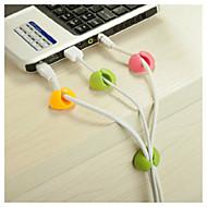 organizador de cabos de fio de desktop fixação Clipe cabo arrumado usb carregador de 4 pcs