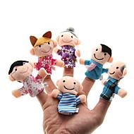 Family Sorminuket Käsinuket Cute Lovely Erikois Plyysi Tyttöjen Lelut Lahja 6 pcs