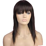 Paryk stil Lige Paryk Natural Hairline Afro-amerikansk paryk 100 % håndbundet Dame Lang Human Hair Capless Parykker / Ret