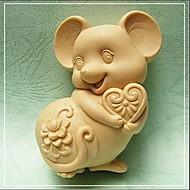Molde de cozimento em forma de mouse, w9.5cm x l7.1cm x h3.7cm bakewares cozinha& jantar