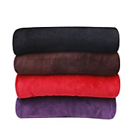 cheap Blankets & Throws-Coral fleece, Solid Solid 100% Polyester Blankets