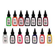 billiga Tatueringsbläck-Tattoo Ink set 14 färg 30ml